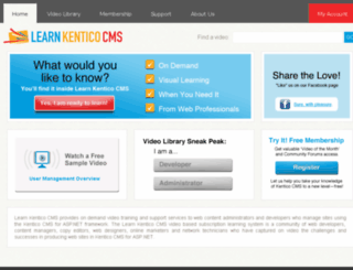learnkenticocms.com screenshot