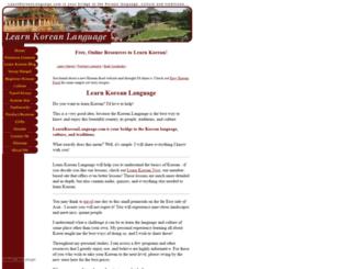 learnkoreanlanguage.com screenshot