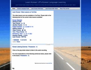 learnkoreanlp.com screenshot