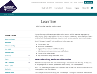 learnline.cdu.edu.au screenshot