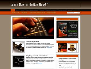 learnmasterguitarnow.com screenshot