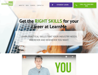 learnme.edu.au screenshot