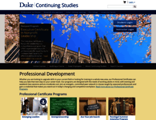 learnmore.duke.edu screenshot