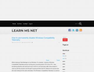 learnmsnet.com screenshot