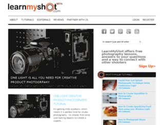 learnmyshot.com screenshot