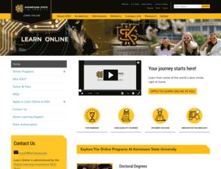 learnonline.kennesaw.edu screenshot
