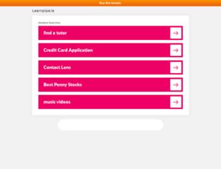 learnpipe.ie screenshot