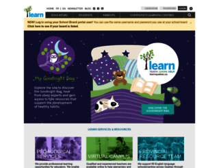 learnquebec.ca screenshot
