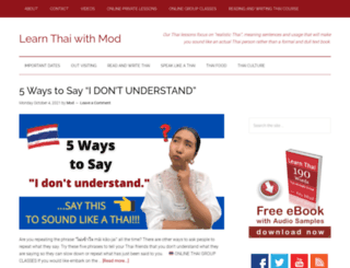 learnthaiwithmod.com screenshot