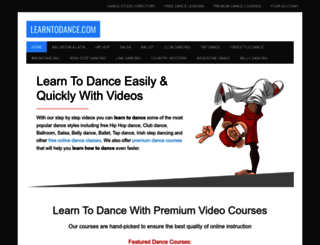 learntodance.com screenshot