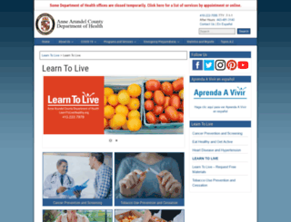 learntolivehealthy.org screenshot