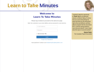 learntotakeminutes.com screenshot