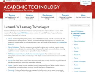 learnuw.wisc.edu screenshot