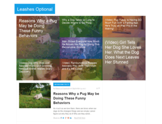leashesoptional.com screenshot