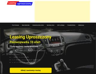 leasing-uproszczony.pl screenshot
