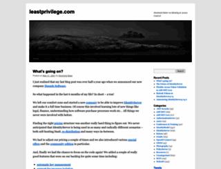 leastprivilege.com screenshot