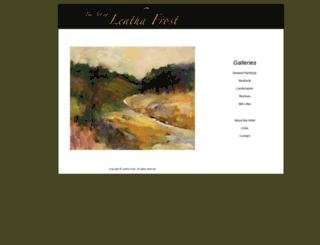 leathafrost.com screenshot