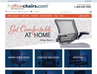 leather-chairs.officechairs.com screenshot