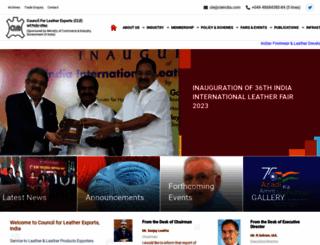 leatherindia.org screenshot