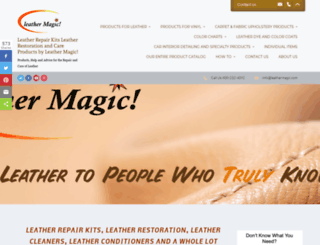 leathermagic.com screenshot