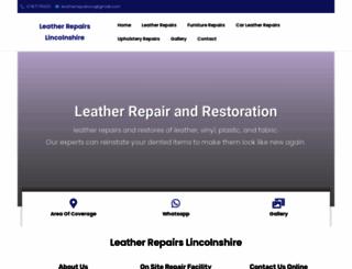 leatherrepairslincolnshire.co.uk screenshot