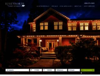 leavenworthlodging.com screenshot
