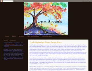leavesofheritage.blogspot.com screenshot