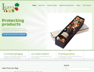 leavs-packaging.co.uk screenshot