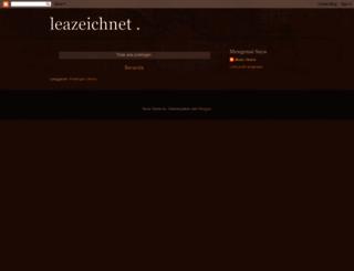 leazeichnet.blogspot.com screenshot