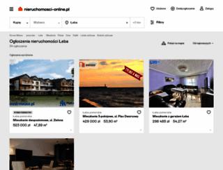 leba.nieruchomosci-online.pl screenshot
