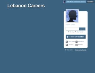 lebanoncareers.tumblr.com screenshot