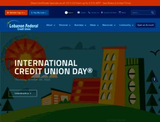 lebanonfcu.org screenshot