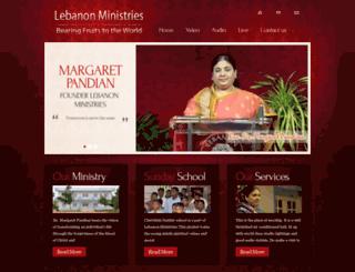 lebanonministries.org screenshot
