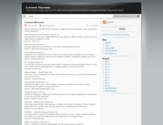 lebanonmuseums.wordpress.com screenshot