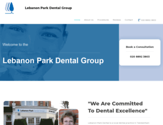 lebanonparkdental.co.uk screenshot