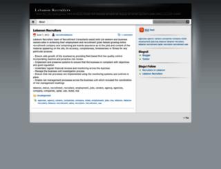 lebanonrecruiters.wordpress.com screenshot