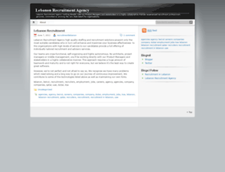 lebanonrecruitment.wordpress.com screenshot