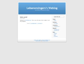 lebanonsingers.wordpress.com screenshot