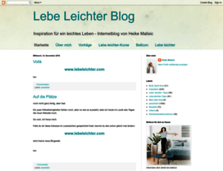 lebeleichter.blogspot.de screenshot