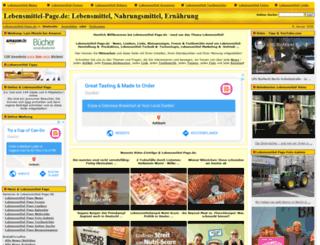 lebensmittel-page.de screenshot