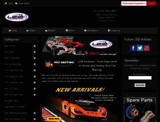lebhobbies.com screenshot