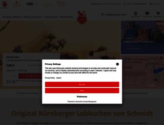 lebkuchen-schmidt.com screenshot