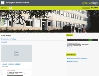 leboisdelarive.cybercolleges42.fr screenshot
