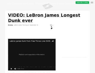 lebronjamesking23.sportsblog.com screenshot