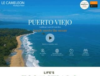 lecameleonhotel.com screenshot