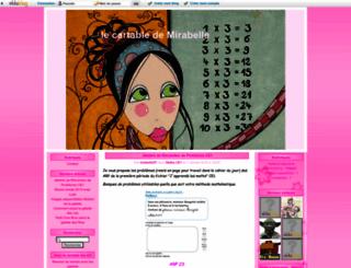 lecartabledemirabelle.eklablog.fr screenshot