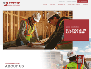 lecesseconstruction.com screenshot