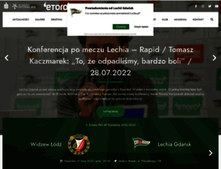 lechia.pl screenshot