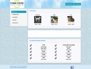 lecimetiere-animalier.net screenshot