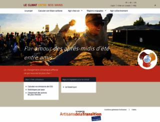 leclimatentrenosmains.org screenshot